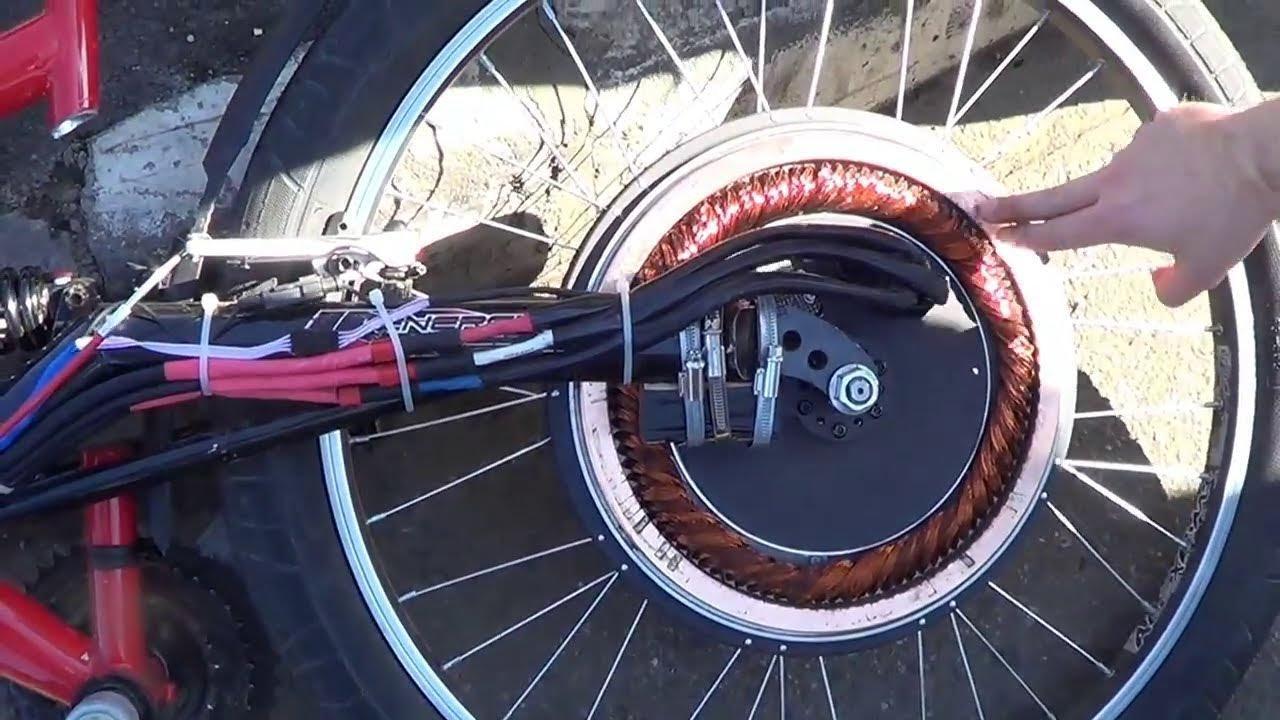 Concept de moteur asynchrone sans aimants situé dans la roue