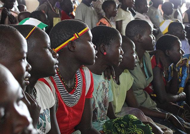 Petites filles ougandaises