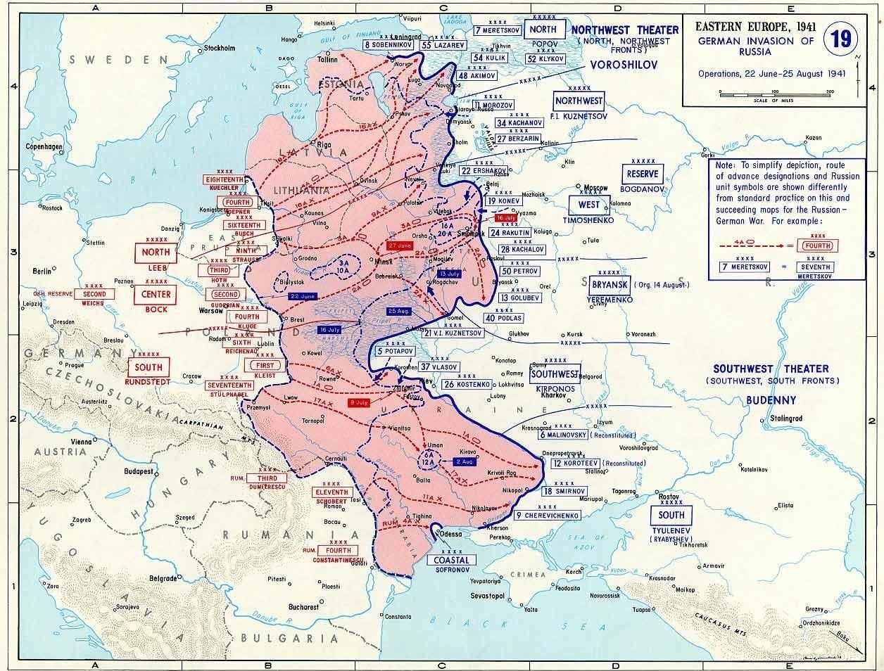Avancée allemande en 1941