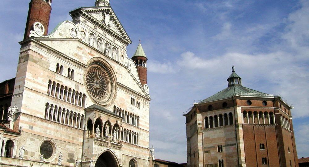 Un baptistère à Cremona, Lombardie