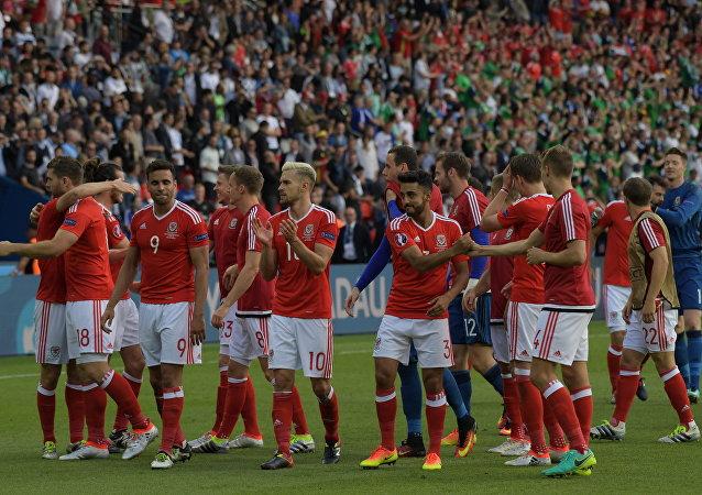 Les joueurs du Pays de Galles après la victoire sur l'Irlande du Nord à l'Euro 2016
