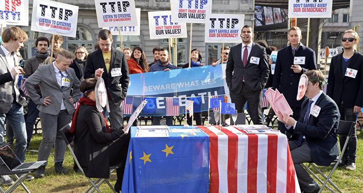 Une manifestation anti-Tafta à Bruxelles