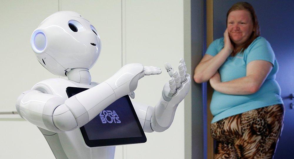 Un robot à l'hôpital. Image d'illustration