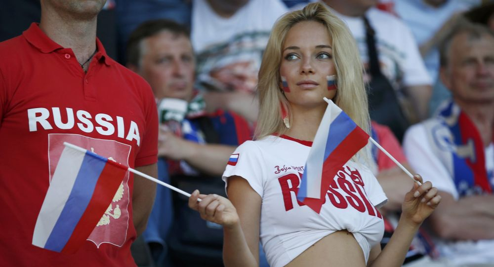 Une supporteuse russe