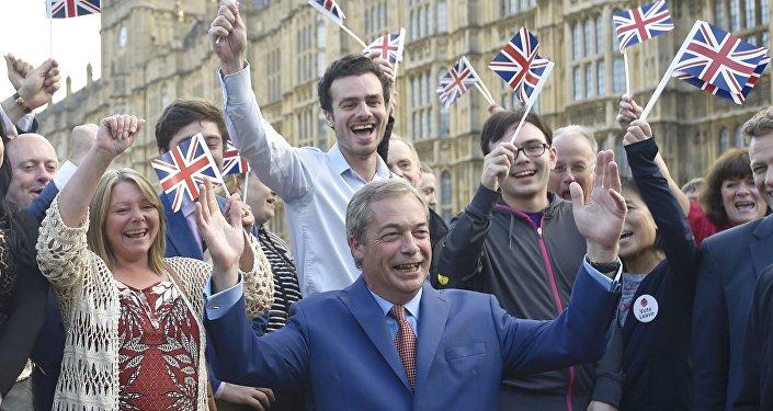 L'un des principaux eurosceptiques britanniques, Nigel Farage, chef du Parti de l'indépendance du Royaume-Uni