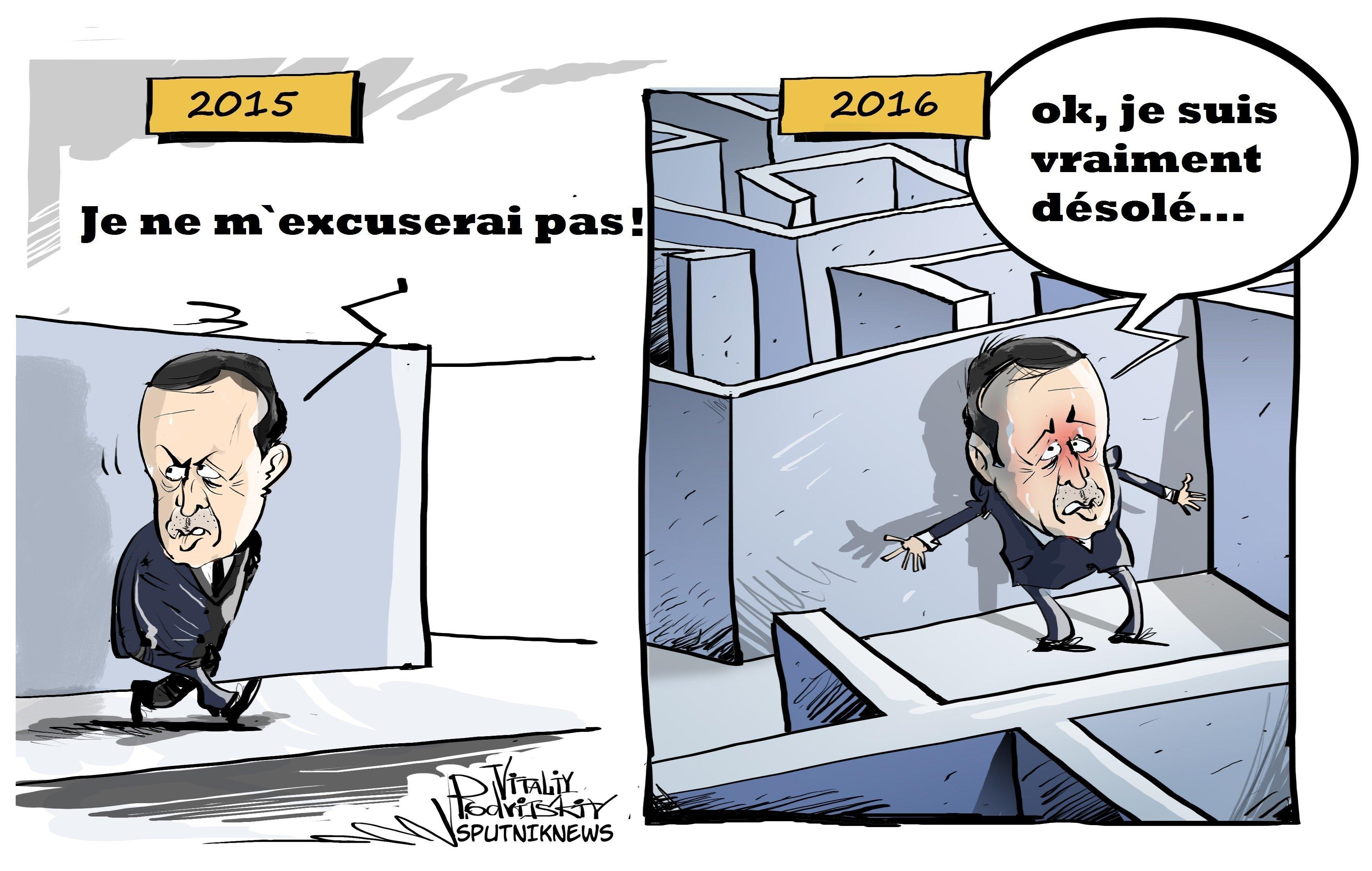 Un chemin épineux vers les excuses du président Erdogan