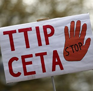 Protestations contre les accords CETA et TTIP