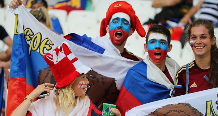 Les supporteurs russes