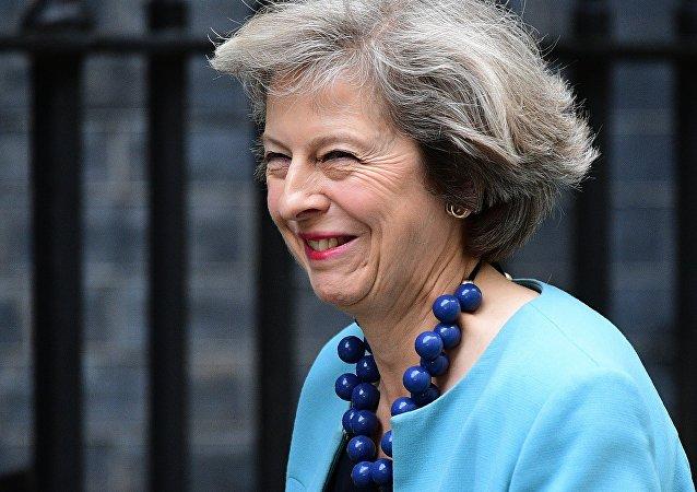 La secrétaire d'État britannique à l'Intérieur Theresa Mary May