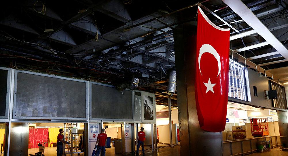 Aéroport international Atatürk d'Istanbul après l'attentat