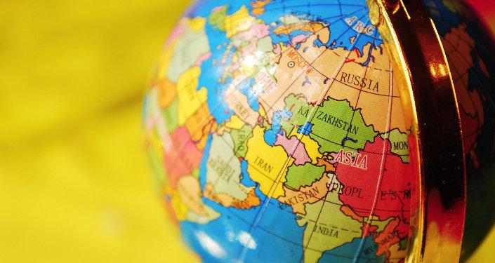 L'Asie sur le globe. Image d'illustration