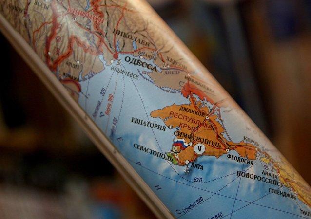 La Crimée appartient à la Russie sur des cartes du monde en Allemagne