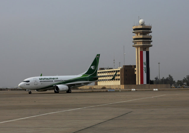 Un avion d'Iraqi Airways à l'aéroport de Bagdad