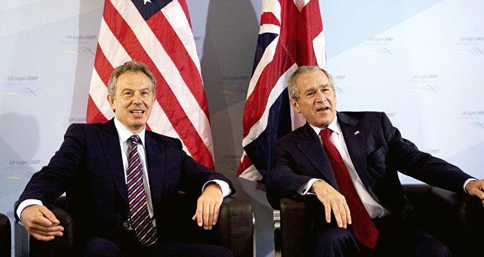 George W. Bush et Tony Blair
