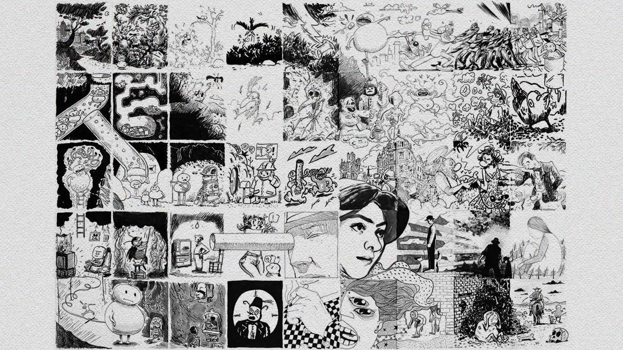 L'œuvre finale des dessinateurs français réalisée dans le cadre du projet de Couac Productions