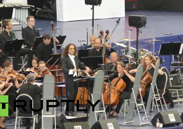 Le plus grand orchestre symphonique a donné un concert en Allemagne