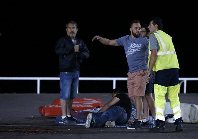 Situation à Nice suite à une attaque