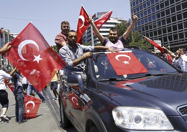 Les partisans du président turc Recep Tayyip Erdogan à Ankara