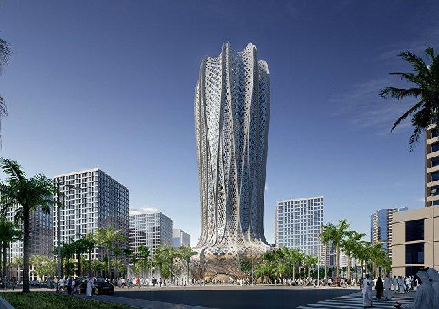 Visuel 3D du projet de  Zaha Hadid