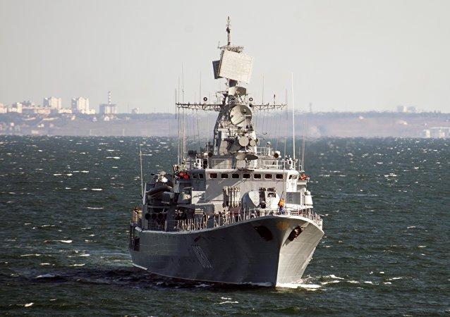 Le vaisseau amiral ukrainien Hetman Sagaydachni