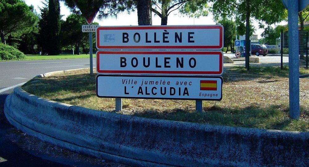 Bollène (Panneau d'entrée)