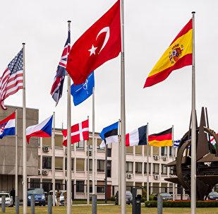 Les drapeaux des pays-membres de l'Otan