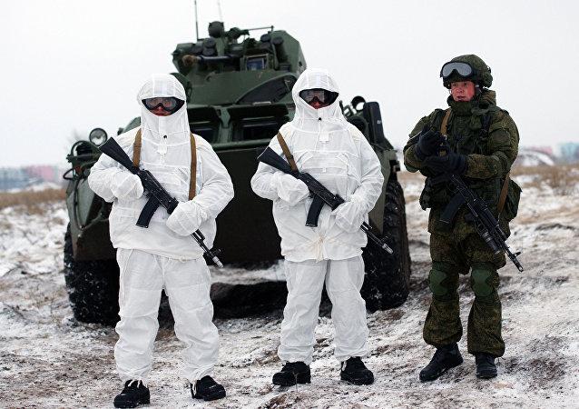 Les soldats russes équipés du système Ratnik