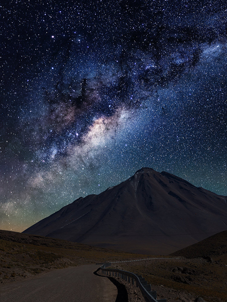 Une vue du ciel dans le désert d'Atacama.