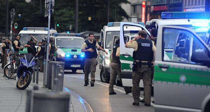 La police près du lieu de la fusillade à Munich
