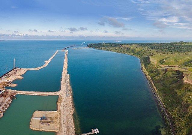 La construction du pont du détroit de Kertch