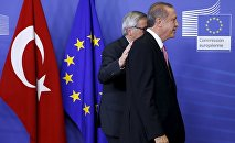 Jean-Claude Juncker et Recep Tayyip Erdogan