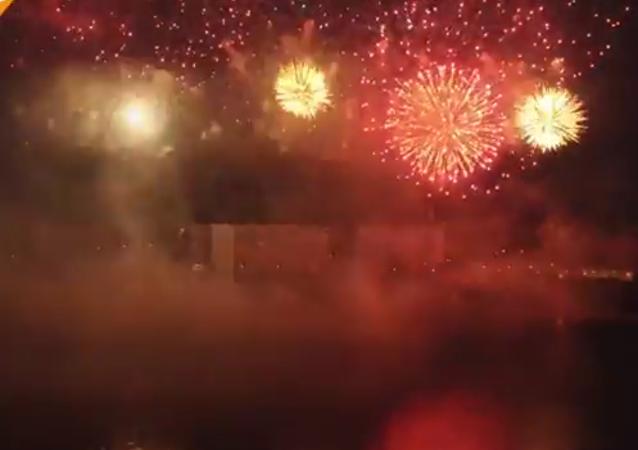 Le festival international des feux d'artifice à Moscou