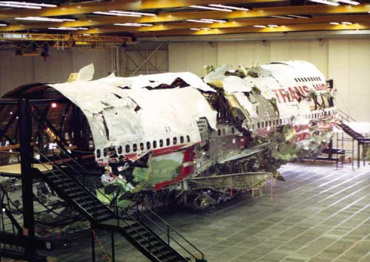 La reconstitution de l'épave du Boeing 747