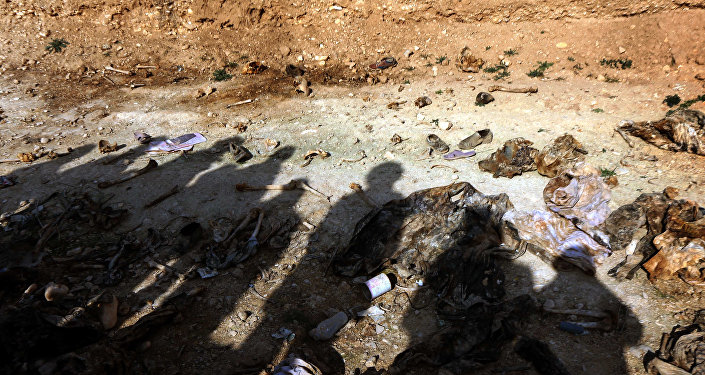 les restes des Yézidis