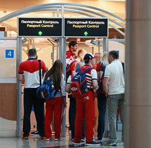 Проводы олимпийской сборной России в Рио-де-Жанейро