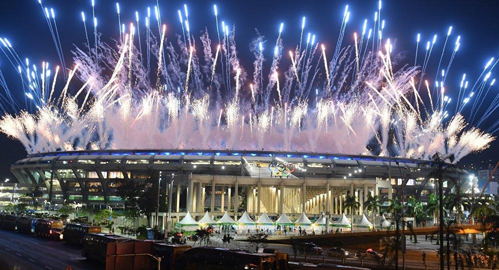 Début de la cérémonie d'ouverture des jeux Olympiques de Rio