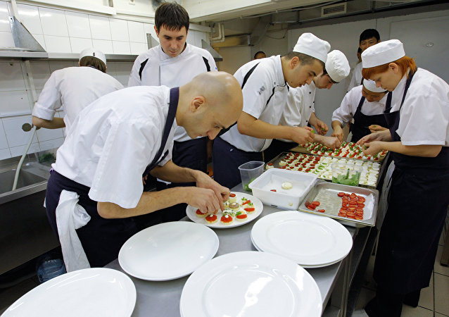 La cuisine d'un restaurant