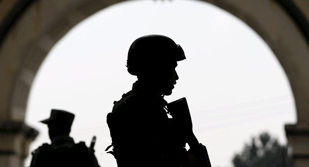 Les forces de l'ordre afghanes à Kaboul