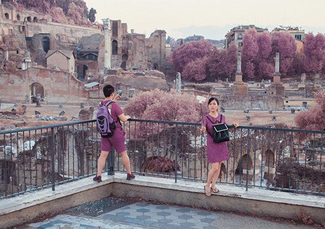 Rome touché par la vie en rose