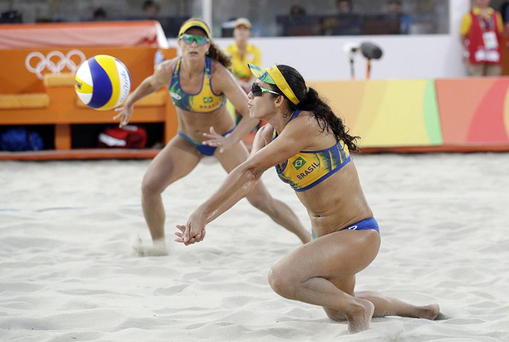 Les sportives brésiliennes lors du match face à l'équipe des Etats-Unis