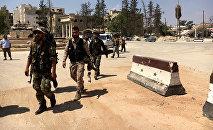 Militaires syriens à Alep