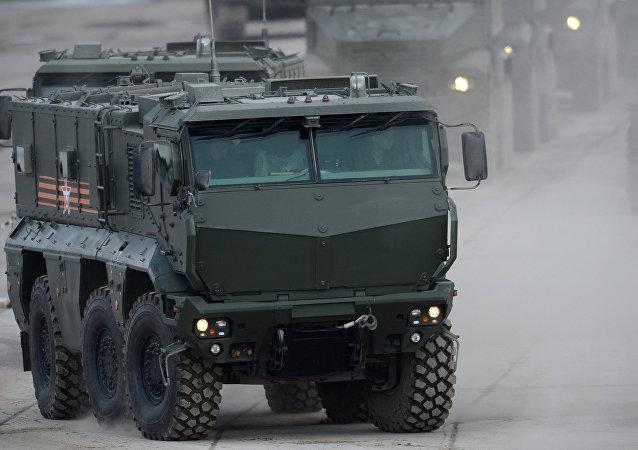 Un véhicule blindé Typhoon, image d'illustration