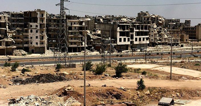 Un quartier d'Alep ruiné par la guerre