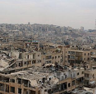 La ville syrienne d'Alep en ruines