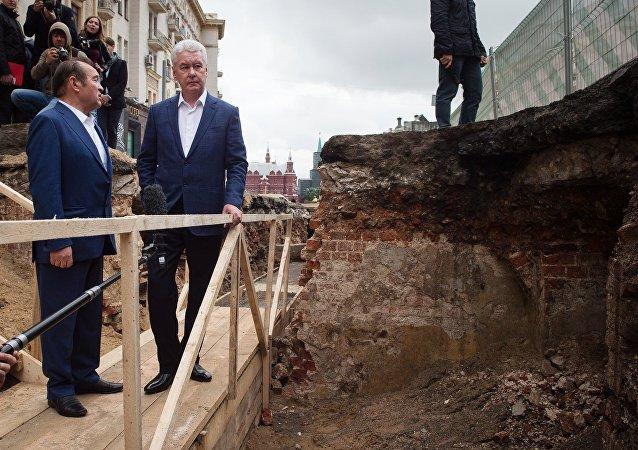 Le maire de Moscou Sergueï Sobianine a inspecté l'avancement des travaux sur l'amélioration de la rue Tverskaya