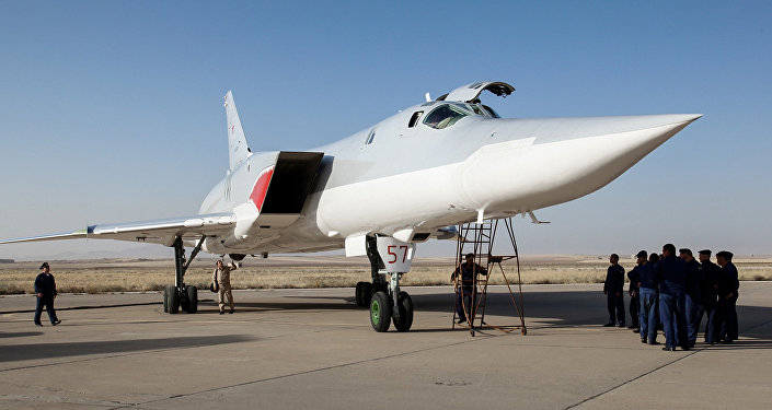 Un bombardier Tu-22M3 à Hamadan.