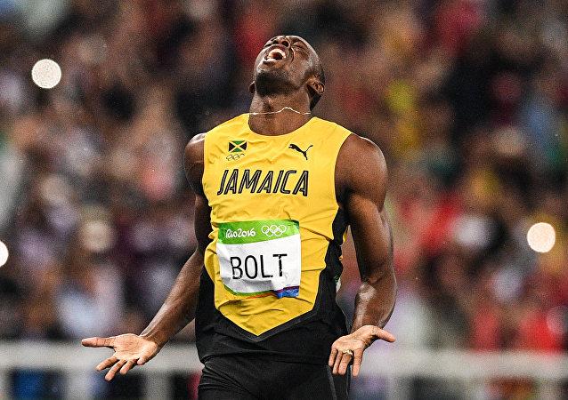 Usain Bolt lors de la finale du 200m
