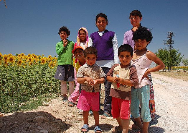Des enfants turcs