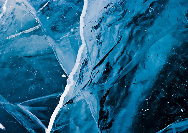 fissure dans la glace