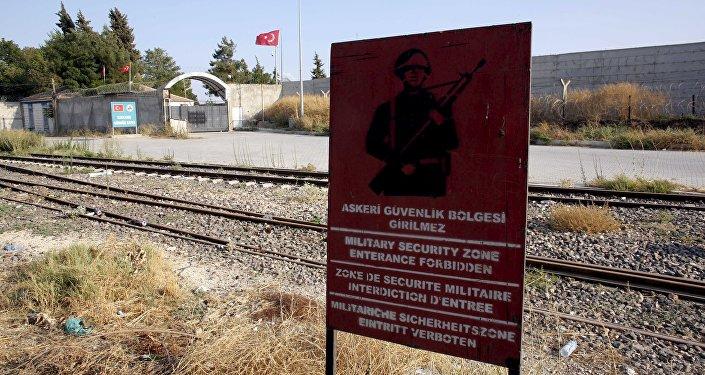Zone de sécurité militaire à Karkamis, à la frontière turco-syrienne